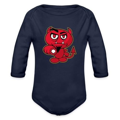 Monster Devil - Organic Longsleeve Baby Bodysuit