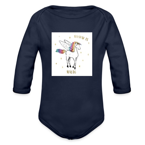 Licorne Swagg - Body bébé bio manches longues
