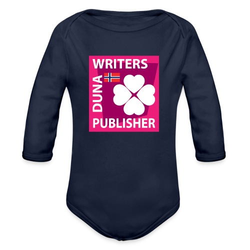 Duna Writers Publisher Pink - Økologisk langermet baby-body