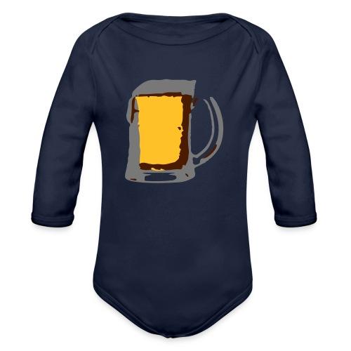 Bier pul - Baby bio-rompertje met lange mouwen