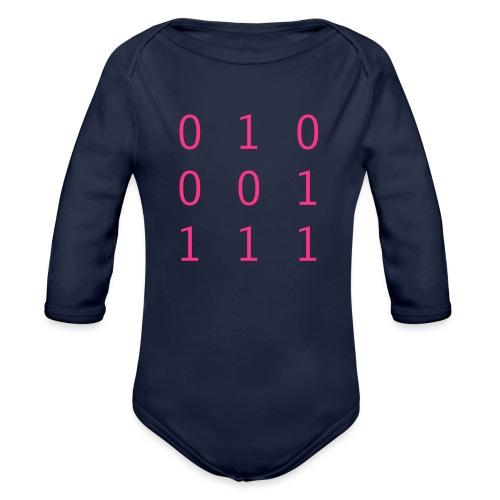 Hacker Emblem - Organic Longsleeve Baby Bodysuit