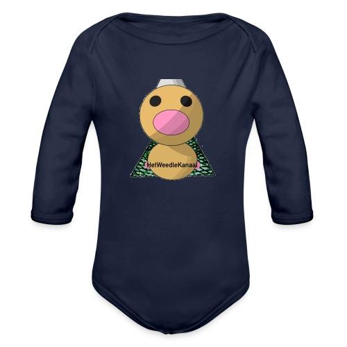 HetWeedleKanaal shirt MAAT S/M/L/XL/XXL - Baby bio-rompertje met lange mouwen