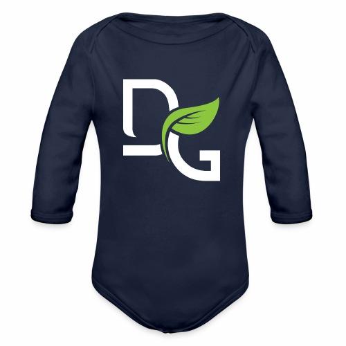DrGreen Logo Symbol weiss grün - Baby Bio-Langarm-Body