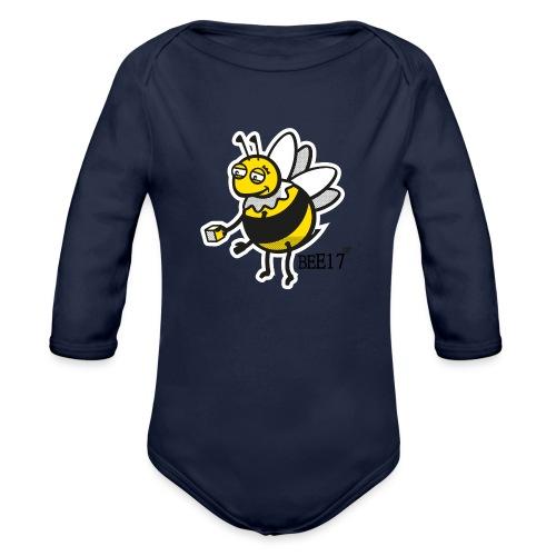 Teeny Tiny East End Bee - Organic Longsleeve Baby Bodysuit