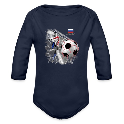GP22F-04 RUSSIAN FOOTBALL TEXTILES AND GIFTS - Vauvan pitkähihainen luomu-body