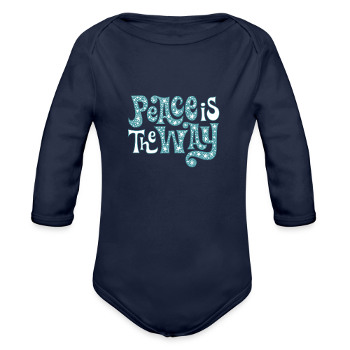 The peace is the way - Organic Longsleeve Baby Bodysuit