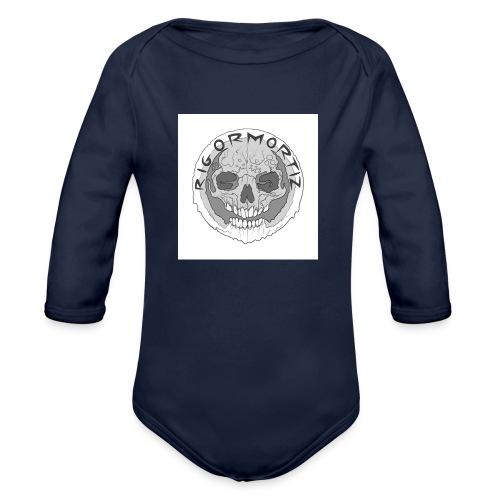 RIGORMORTIZ BOLD LOGO - Organic Longsleeve Baby Bodysuit