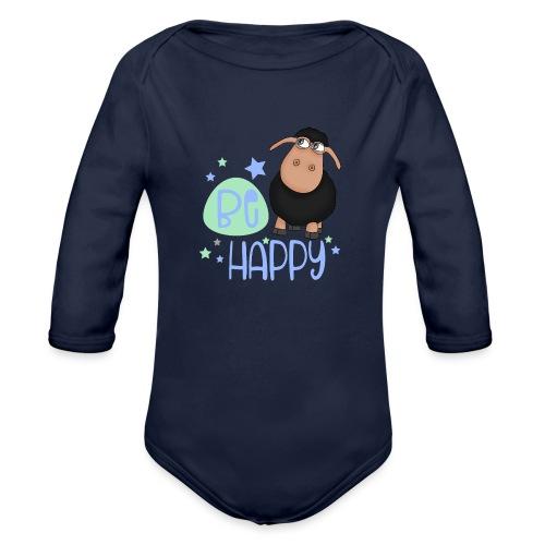 Black sheep - Be happy sheep - lucky charm - Organic Longsleeve Baby Bodysuit