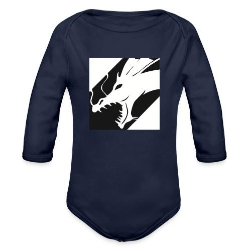 Dragon White Mok - Baby bio-rompertje met lange mouwen