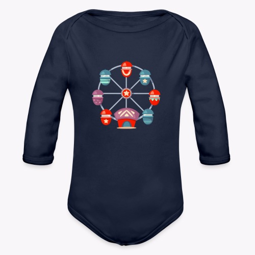 Ferris Wheel - Organic Longsleeve Baby Bodysuit