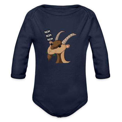 Lo stambecco puccioso - Body ecologico per neonato a manica lunga