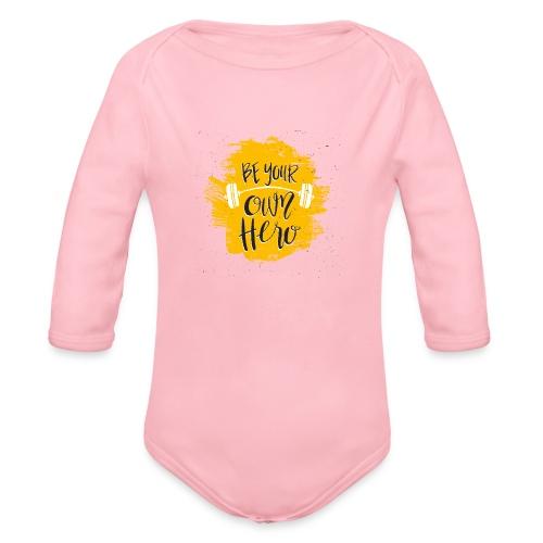 GYM Hero - Vauvan pitkähihainen luomu-body