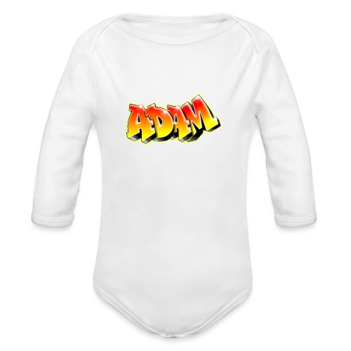 Adam Graffiti Name Printable - Body Bébé bio manches longues