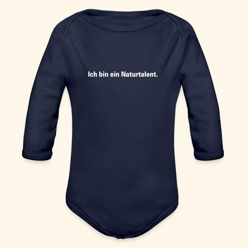 Ich bin ein Naturtalent line - Baby Bio-Langarm-Body