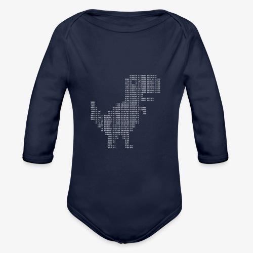 Google dinosaur   Dinosaur Binary   Dino   404 - Organic Longsleeve Baby Bodysuit