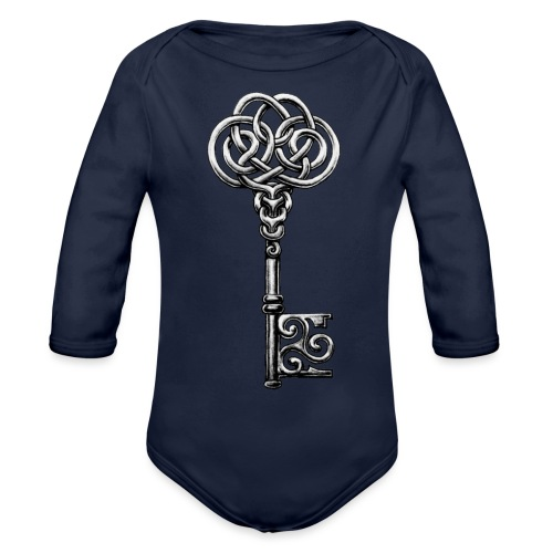 CHAVE-celtic-key-png - Body orgánico de manga larga para bebé