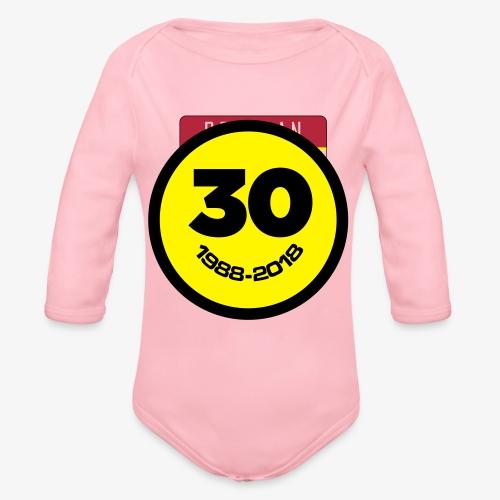 30 Jaar Belgian New Beat Smiley - Baby bio-rompertje met lange mouwen