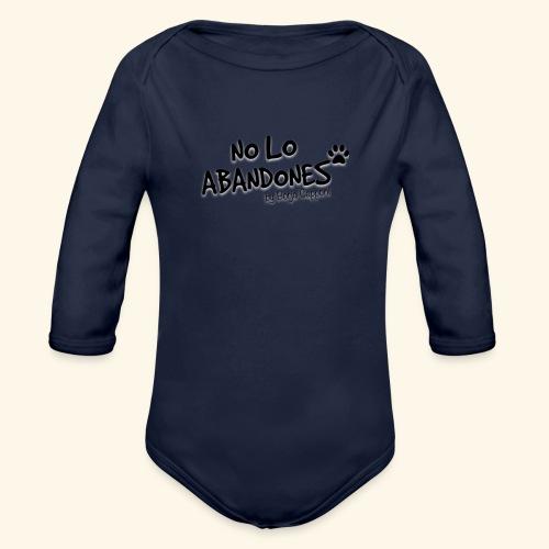 noloabandones negro - Body orgánico de manga larga para bebé