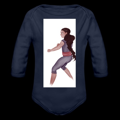 Steven Universe fanart connie training - Organic Longsleeve Baby Bodysuit