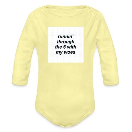 cap woes - Baby bio-rompertje met lange mouwen