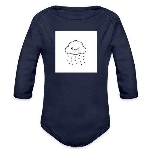 nuage coeur - Body Bébé bio manches longues