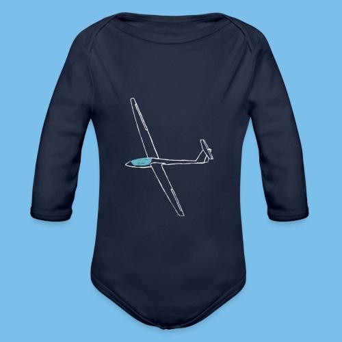 Segelflugzeug gleiten Geschenk Segelflieger tshirt - Baby Bio-Langarm-Body