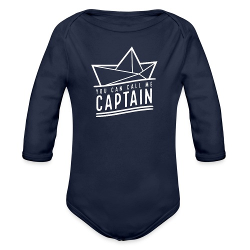 you can call me captain 02 – white - Baby Bio-Langarm-Body