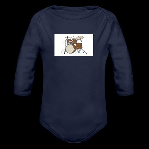 bongo cattttttttttt - Organic Longsleeve Baby Bodysuit