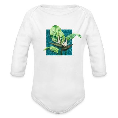Boho Paradies Strelitzia nicolai Baum-Strelitzie - Baby Bio-Langarm-Body