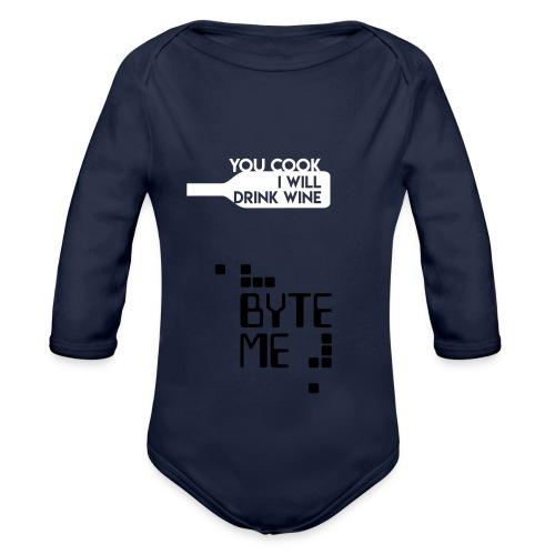 ByteMe - Langærmet babybody, økologisk bomuld