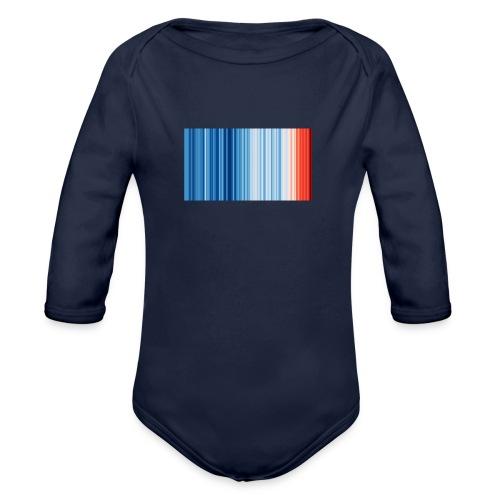 Klimawandel - Warming Stripes - Wärmestreifen - Baby Bio-Langarm-Body