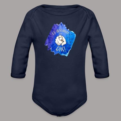 shirt blau tshirt druck - Baby Bio-Langarm-Body