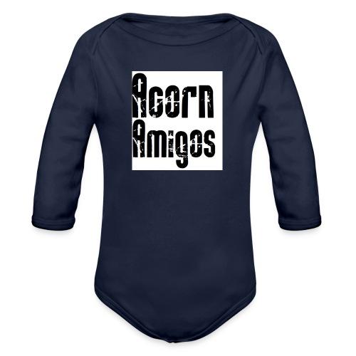 acorn amigos badge - Ekologisk långärmad babybody