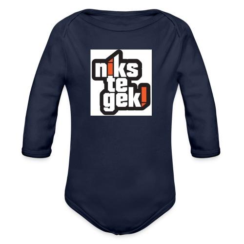 nikstegek shirt - Baby bio-rompertje met lange mouwen