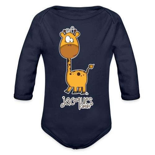 JACQUES Giraff - Baby Bio-Langarm-Body
