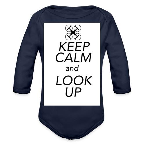 Keep Calm and Look Up - Baby bio-rompertje met lange mouwen