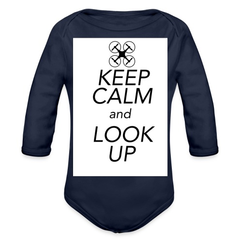 Keep Calm and Look Up - Baby bio-rompertje met lange mouwen