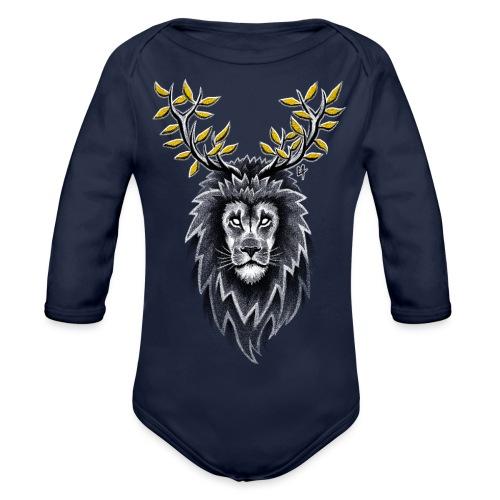 Deer Lion - Organic Longsleeve Baby Bodysuit
