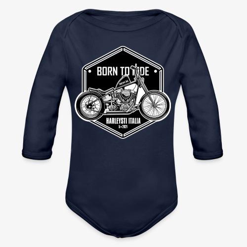 Born to Ride - Vintage motorbike - Body ecologico per neonato a manica lunga