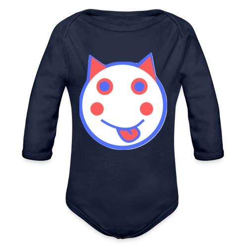 Red White And Blue - Alf Da Cat - Organic Longsleeve Baby Bodysuit