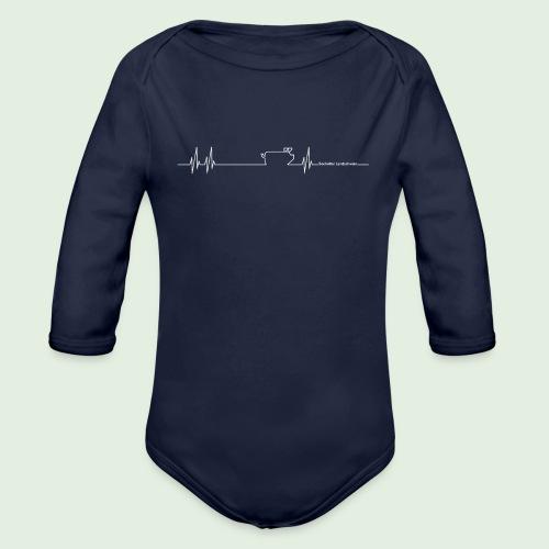 Herzschlag - Baby Bio-Langarm-Body