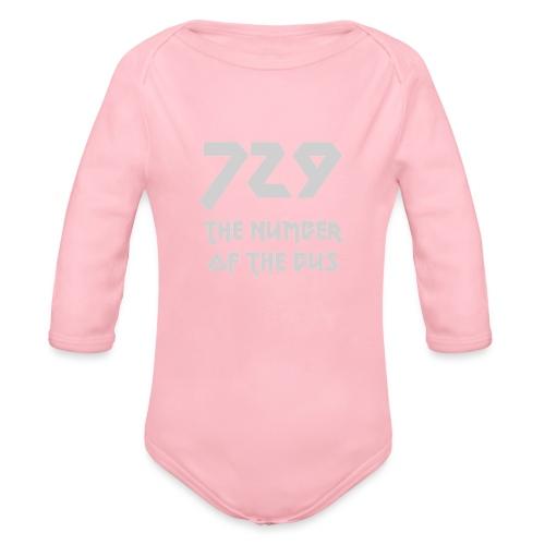 729 grande grigio - Body ecologico per neonato a manica lunga
