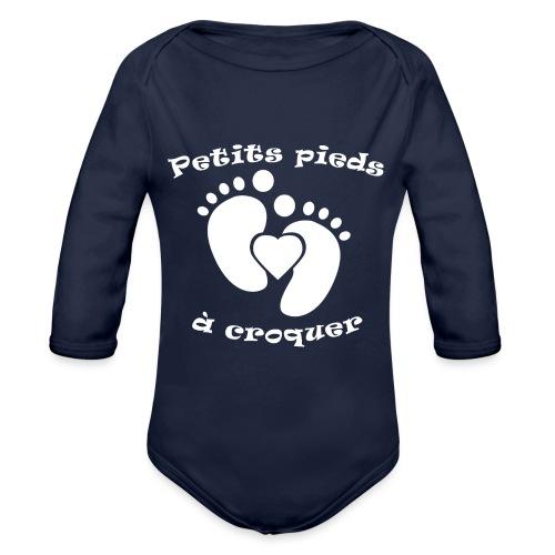 Petits pieds à croquer - Body Bébé bio manches longues