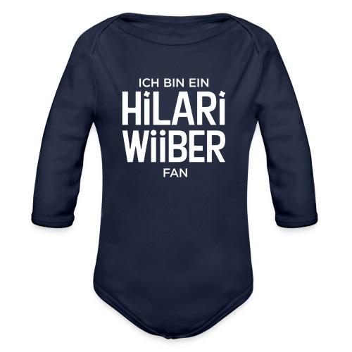 Ich bin ein Hilari Wiiber Fan! - Baby Bio-Langarm-Body