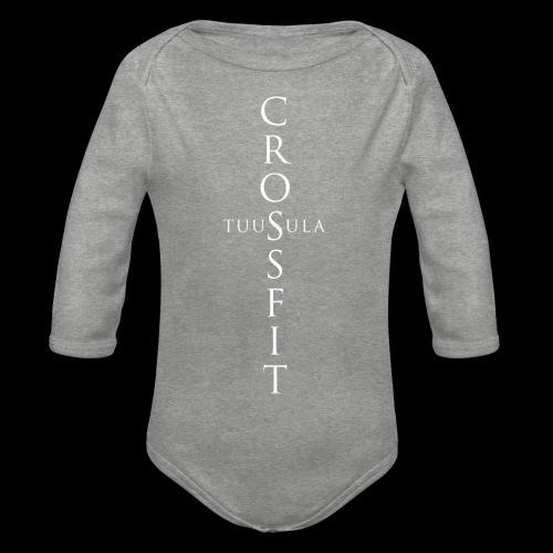 CrossFit Tuusula risti - Vauvan pitkähihainen luomu-body