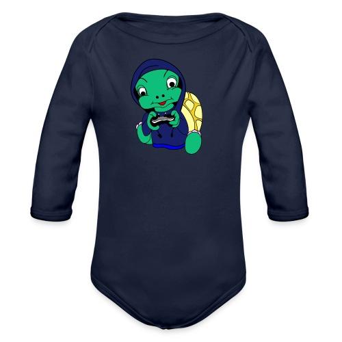 Hoodie gamer schildpad - Baby bio-rompertje met lange mouwen