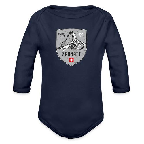 Zermatt Schweiz Wappen - Organic Longsleeve Baby Bodysuit