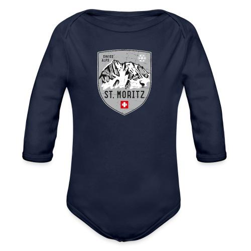 St. Moritz coat of arms - Organic Longsleeve Baby Bodysuit
