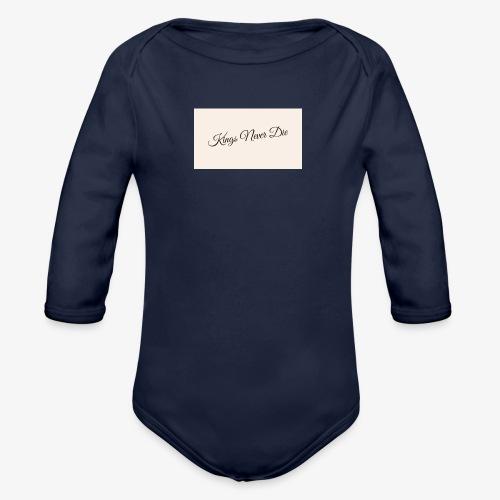 Kings Never Die - Organic Longsleeve Baby Bodysuit