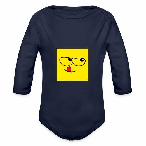 Smile T-shirt, Emoti - Baby Bio-Langarm-Body
